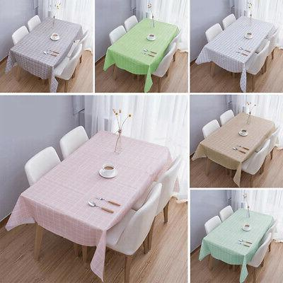 Kitchen Nordic Style PVC Waterproof Oil-proof Table Cloth Co