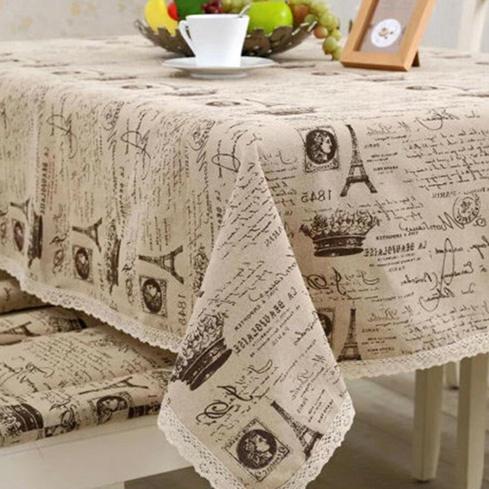 FA- BL_ Vintage Eiffel Tower Dinning Cover
