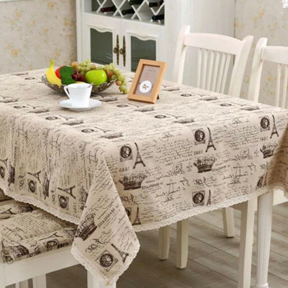 FA- Vintage Eiffel Tower Dinning Table Linen Cover