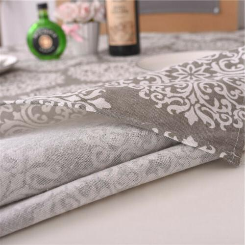 Retro Cotton Linen Rectangular Table Cloth