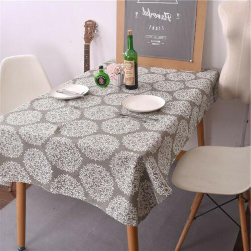 Retro Tablecloth Cotton Linen Cloth