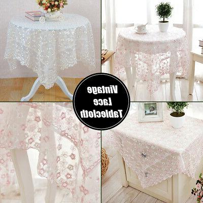 Lace Embroidery Table Home Decor