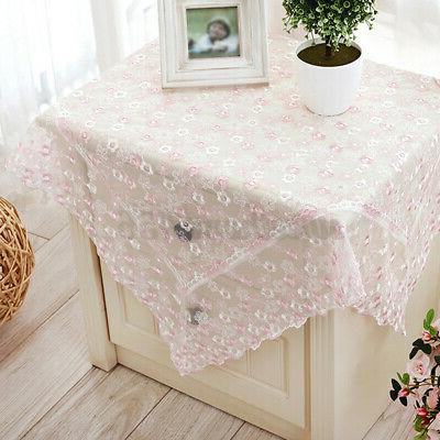 Lace Embroidery Flower Table Cloth & Home Desk Decor