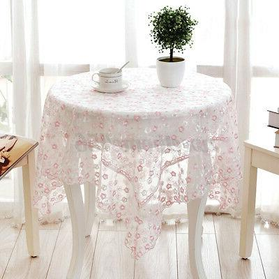Lace Embroidery Flower Table Cloth Tablecloth Home Decor