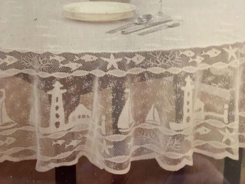 lace tablecloth lighthouse design 70 round beach