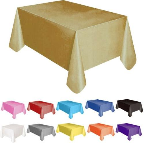 Large Rectangle <font><b>Table</b></font> Cover <font><b>Cloth</b></font> Wipe Clean Party Covers 137x183cm
