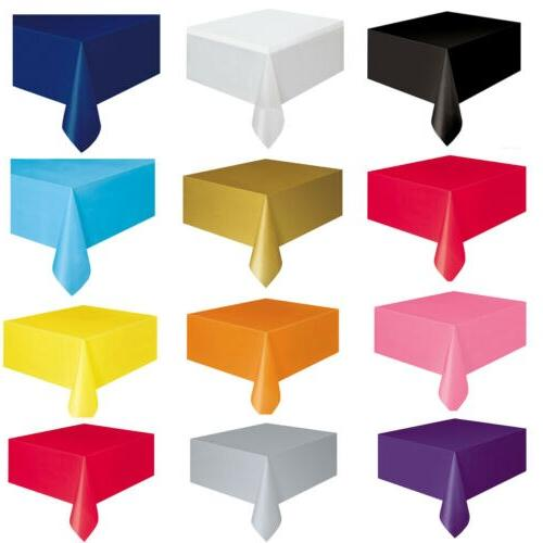Large <font><b>Plastic</b></font> <font><b>Table</b></font> Cover Wipe Party Covers 137x183cm