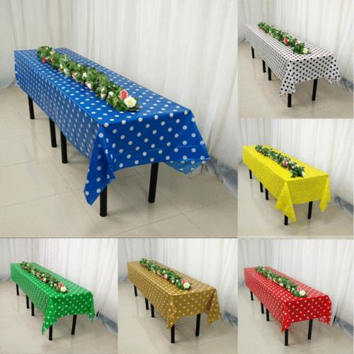 Large Plastic Rectangle Party Tablecloth