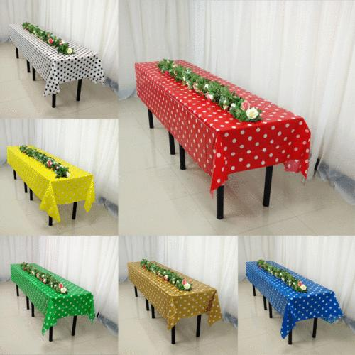 large plastic rectangle table cover cloth wipe