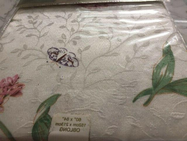 New Lenox Butterfly Meadow Jacquard Damask Oblong Tablecloth