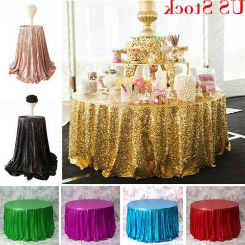 luxury round sequin tablecloths table cloth cover