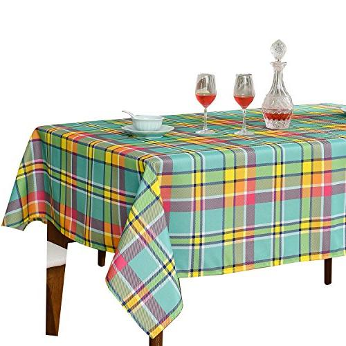 Sensational Jiater Modern Plaid Table Cloth Spillproof Polyester Fabric Bralicious Painted Fabric Chair Ideas Braliciousco