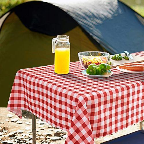 YEMYHOM Tablecloths 60 x Indoor Outdoor Camping Rectangular Table