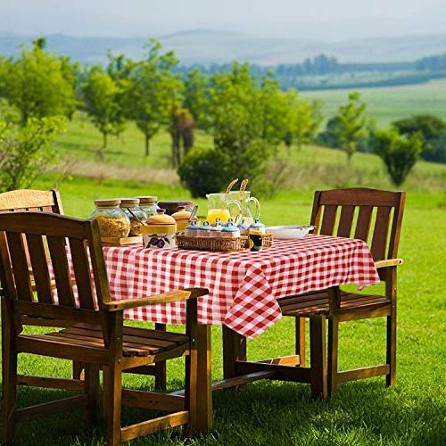 YEMYHOM 100% Polyester Tablecloths for Rectangle 60 x 84 Indoor Camping Rectangular