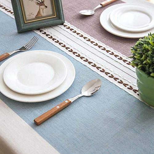 Crossoft Tassel Tablecloths Dust-Proof Table Kitchen