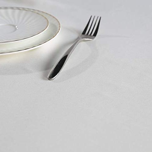 SUO White Oxford Cloth Tablecolths 60x84 White