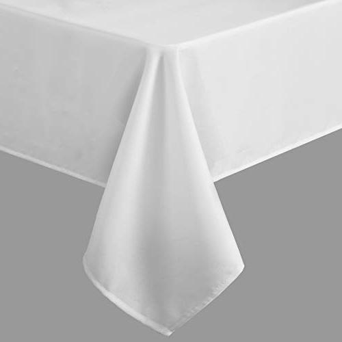 SUO Modern White Oxford Table Cloth Tablecolths