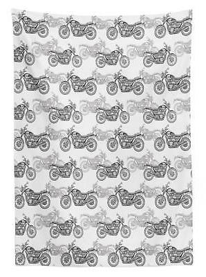 Motorcycle Tablecloth 3 Sizes Rectangular Home