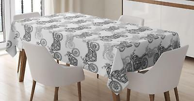 motorcycle tablecloth 3 sizes rectangular table cover