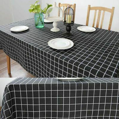 Cotton Checked Kitchen Table Cover