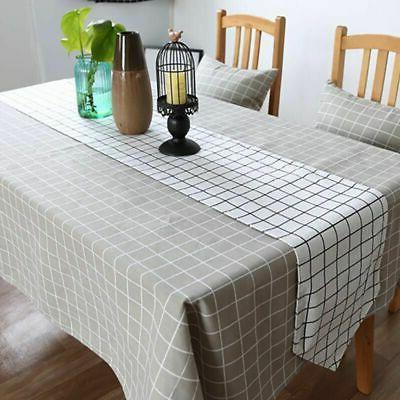 Cotton Checked Cover Decor