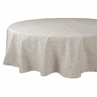 natural solid chambray tablecloth 70 round 70