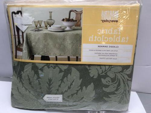 NEW Cloth TableCloth Sage Damask Round