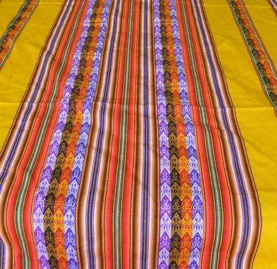 New Puno Andean Inca Table Cloth Cover Honey Yellow