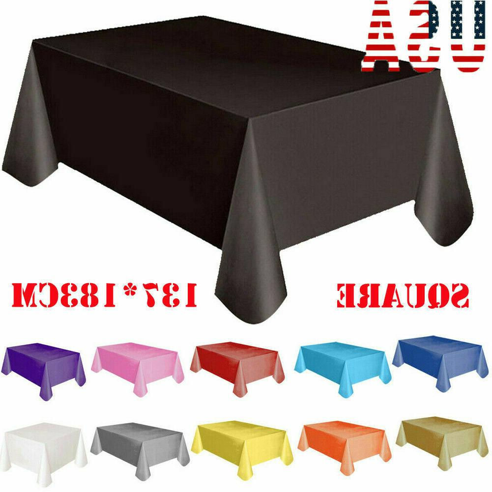 US Large Plastic Rectangle Table Cover Cloth Wipe Clean Part