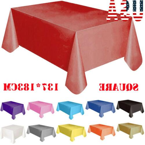 new large plastic rectangle table cover cloth