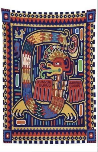 new mexican tablecloth aztec culture pattern ethnic