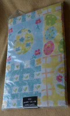 New Pastel Easter Table Cloth tablecloth Oblong 60 x 102 NIP