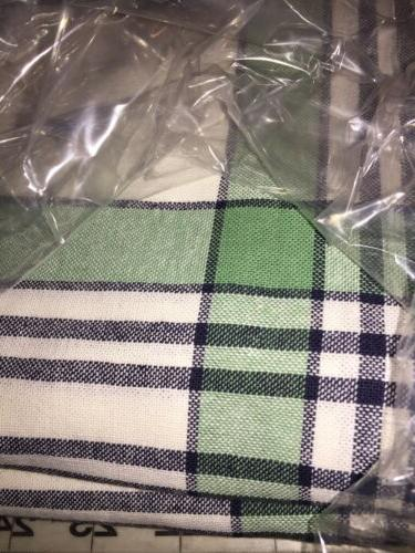NEW~ Threshold Oblong Tablecloth Fabric Table 60x104 Spring Green