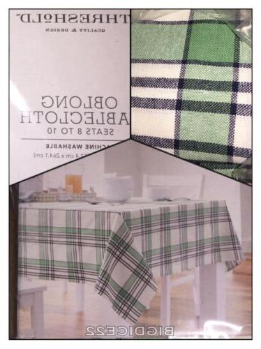 new plaid oblong tablecloth fabric table cloth
