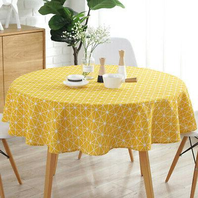 Table Cloth Printed Round Tablecloth for