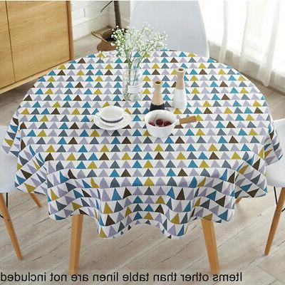 Nordic Style Table Cover Party Tablecloth Round Cotton Cover