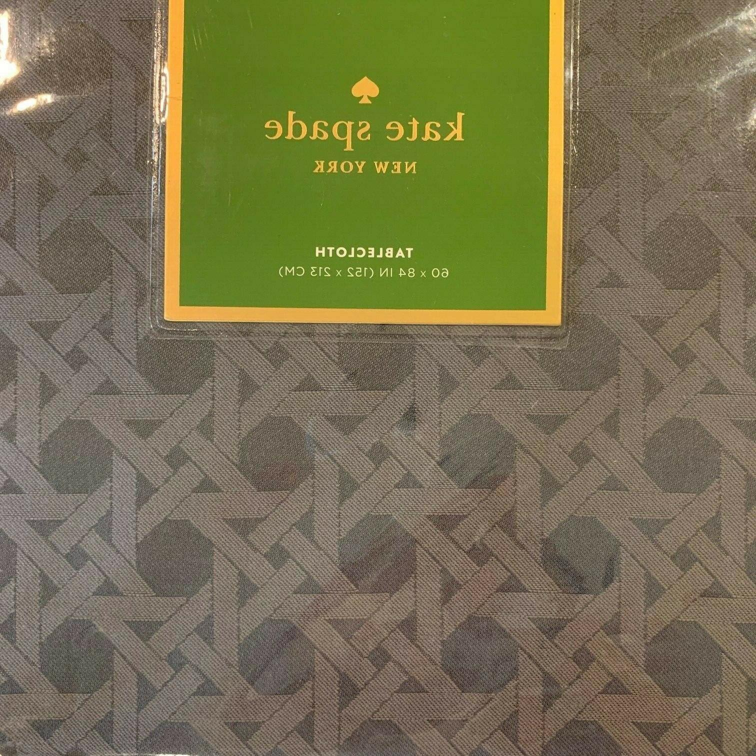 "Kate Spade New Cafe Cotton blend Table Cloth 84"","
