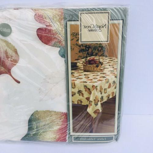 Nort Crest Home Fabric Table Cloth 100% Polyester Size Oblon