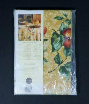 NOS Cotton Collection FRUIT TABLECLOTH x
