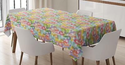 Number Tablecloth Ambesonne 3 Sizes Rectangular Table Cover