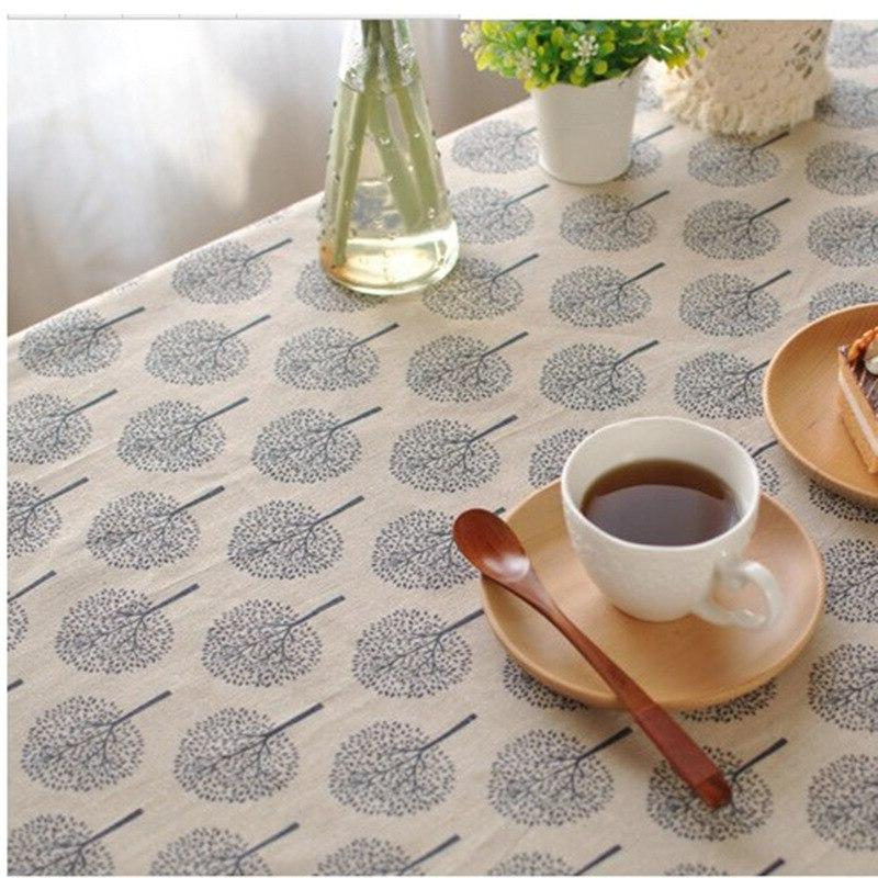 Oilcloth Waves Blue Waterproof Tablecloths Cotton <font><b>Linen</b></font> <font><b>Table</b></font> Cover <font><b>Table</b></font> The