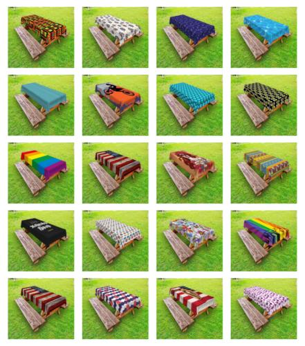 Outdoor Tablecloth Picnic Table Cloth Ambesonne