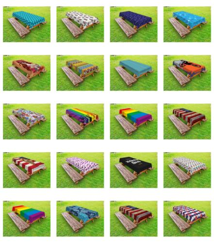 Outdoor Washable Picnic Ambesonne 3 Sizes