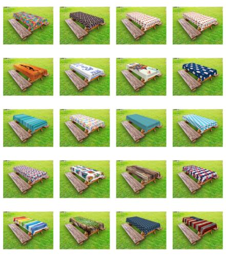 outdoor tablecloth washable rectangular picnic table cloth