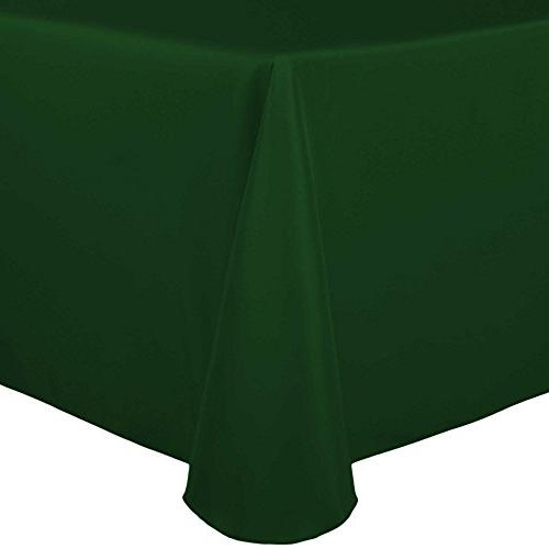 oval polyester linen tablecloth hunter