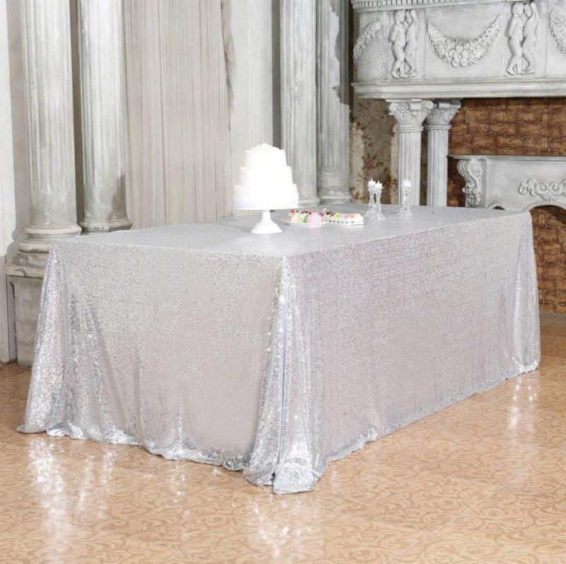 "Partydelight Sequin Tablecloth, Rectangular, 60""X120"","