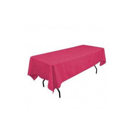 pink rectangular polyester tablecloth inche