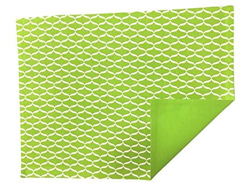Chelsea Home Kitchen Fabric Geometric Rectangular Cloth Bright Lime Washable