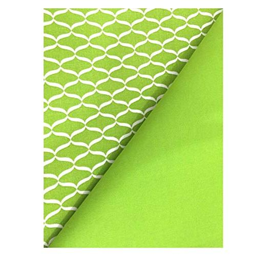 Chelsea Home Kitchen Fabric Solid Geometric Pattern Rectangular Place Bright White of