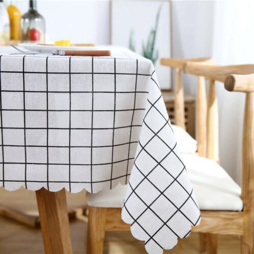 Table Oilproof Tablecloth Kitchen Dining